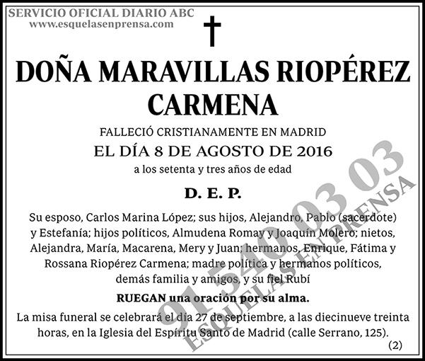 Maravillas Riopérez Carmena